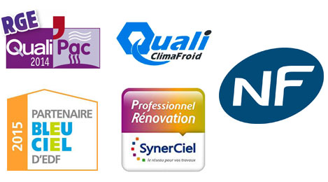 Seem Climatisation Chailles - logos qualifications et certiications